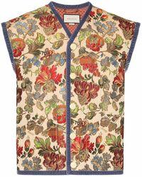 Gucci Men's 562036zaa5s0909 Beige Cotton Vest - Brown