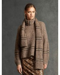 Luisa Cerano Mouline Knitted Sweater 148971/5887 - Brown