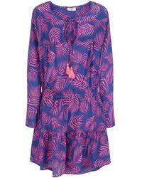 Mercy Delta Langham Palm Dress - Purple