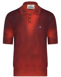 Vivienne Westwood Knitted Polo - Red