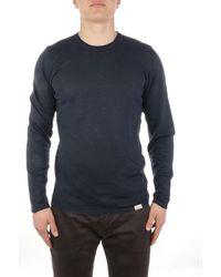 Brooksfield Linen T-shirt - Blue