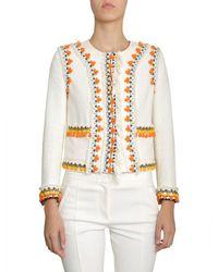 Tory Burch Women's 46971104 White Linen Blazer
