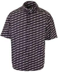 Balenciaga - Men's 622223tils71070 Black Cotton Shirt - Lyst