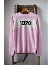 Bella Freud 1970 Baby Pink Cashmere Sweater