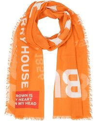 Burberry Horseferry Logo Scarf - Orange