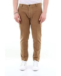 Yan Simmon Solid Colour Slim Fit Trousers - Brown