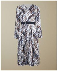 Ted Baker Lilis Midi Dress Ivory - Blue