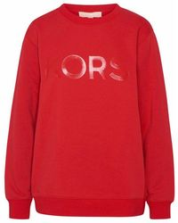 Michael Kors Women's Ms1501i23g609 Red Cotton Sweatshirt