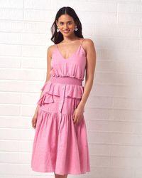 Clube Bossa Ruffle Summer Dress - Pink