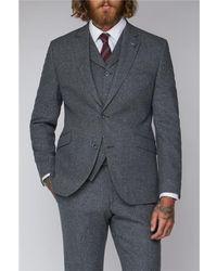 Gibson London Tweed Suit Jacket - Grey