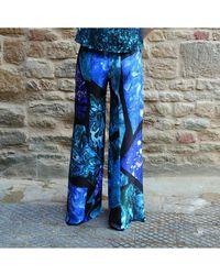Florence Bridge Holly Flare Trouser - Blue