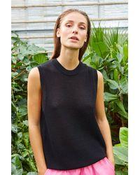 Ichi Ss21 Mariana Knitted Vest - Black