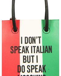 Moschino Italian Slogan Micro Shopper Bag - Multicolour