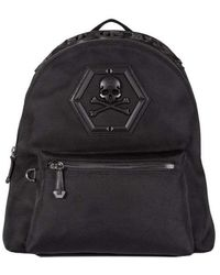 """Philipp Plein Men's """"don't Ever Give Up"""" Backpack Black"""