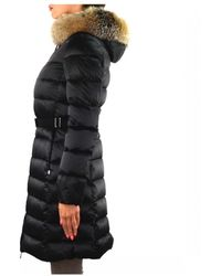 Moncler Fur Tatie Hooded Quilted Coat in Grey (Gray) Lyst