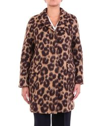 Alberto Biani Outerwear Short Spotted - Brown