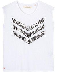 JUNE 72 Hayden Zebra Logo Tee - White