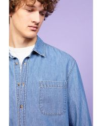 American Vintage - Ginogrande Mid Blue Shirt - Lyst