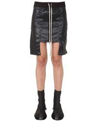 Rick Owens Drkshdw Vegan Leather Mini Skirt - Black