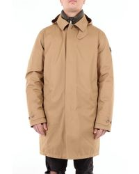 Polo Ralph Lauren Polo Raph Lauren Long Coat With Side Logo - Brown