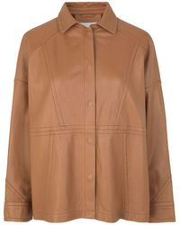 Munthe Emerge Leater Outerwear - Brown