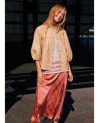 COSTER COPENHAGEN Draped Skirt In Tanned Brick - Multicolour