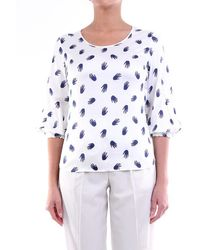 Camicettasnob Camicetta Snob Shirts Blouses Women White And Blue