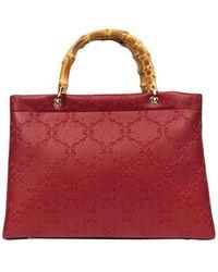 Roberta Di Camerino Bamboo Shopping Large - Red