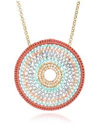 Azuni London Crochet Mandalla Necklace - Multicolour