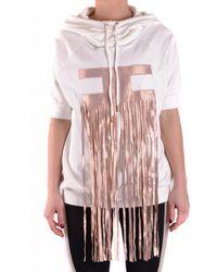 Elisabetta Franchi White Cotton Sweatshirt