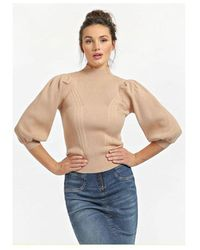 Guess Betsy Turtle Neck Knit Colour: Sand - Black