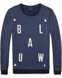 Maison Scotch - Artwork Sweat Blue - Lyst