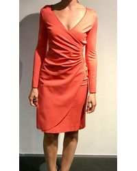 Emporio Armani Coral Long Sleeved Dress - Pink