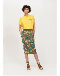 Essentiel Antwerp Tiswow Leopard Sequin Skirt - Green
