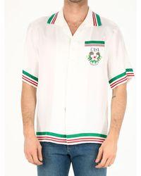 CASABLANCA Printed Silk Shirt - White