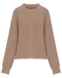 Nanushka Latte Sweater - Brown