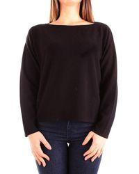 ViCOLO - Women's 2062wblack Black Cotton Jumper - Lyst