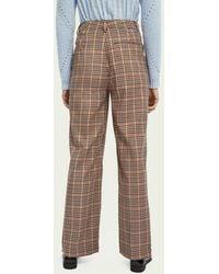 Scotch & Soda Tailored Wide Leg Trousers - Multicolour