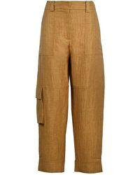 Eleventy Linen Pants - Brown