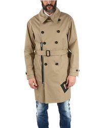 DSquared² Men's S74aa0211s41794114 Beige Cotton Trench Coat - Brown