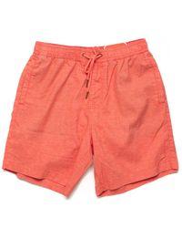 Deus Ex Machina Sandbar Hemp Swim Short - Coral - Orange