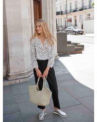 Nrby Phoebe Silk Spot Shirt - White