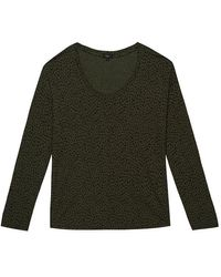 Rails Colby Long Sleeve Top - Olive Mini Spotted - Green