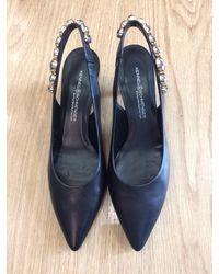 Kennel & Schmenger Kitten Heel Jeweled Sling Black 91-46960-310