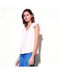 Sundry Ruffle Sleeve T-shirt Pink