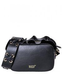 RED Valentino Rock Ruffle Shoulder Bag - Black