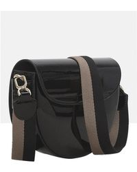 Liebeskind - Mixed Patent Saddle Bag - Lyst