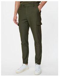Les Deux Como Cargo Trousers Colour: Deep Forest - Green