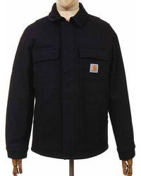 Carhartt Wip Wool Arctic Coat - Dark Navy - Blue