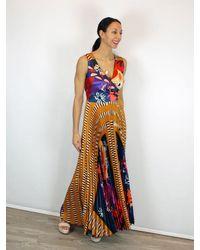 Beatrice B. Special Occasion Sleeveless Maxi Dress - Orange
